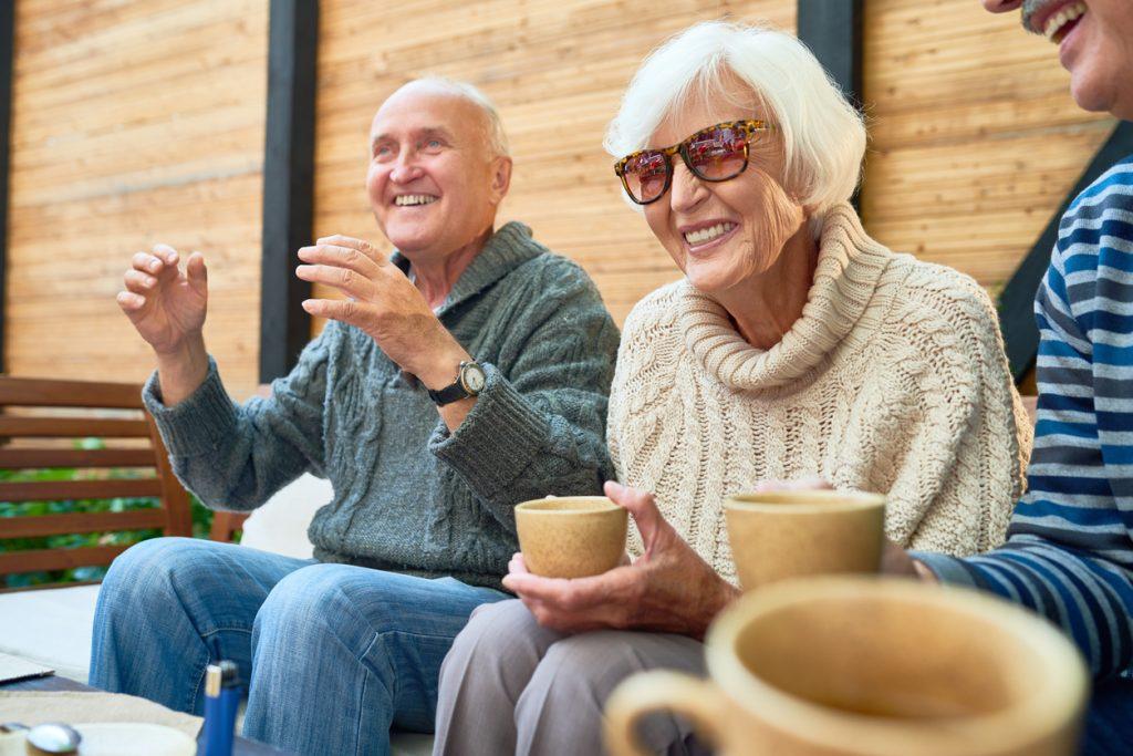Group of elderly people having fun